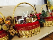 Basket may be similiar to picture shown; color, style, holiday accents may vary.